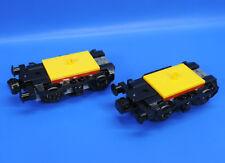 LEGO®  Eisenbahn Lok Waggon 2 komplette achse Drehgestell Puffer