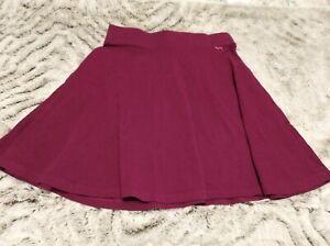 Victoria's Secret PINK Sz XS Skater Skirt Solid Cranberry Flare Short Skirt EUC