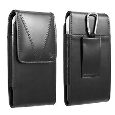 Vertical Leather Pouch Case Holster Belt Loop For iPhone 11 Pro Max 8 7 Samsung