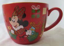 DISNEY STORE MINNIE MOUSE RED CHRISTMAS COFFEE MUG