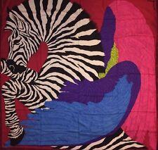 Authentic Hermes GM Cashmere Scarf Shawl Zebra Pegasus 140cm New w/Tag Bordeaux