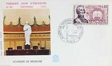 ENVELOPPE PREMIER JOUR - 9 x 16,5 cm - ANNEE 1971 - ACADEMIE DE MEDECINE PARIS