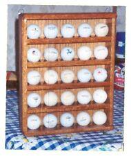 solid oak 25 logo golf ball rack display case showcase w