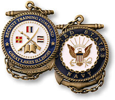 NEW U.S. Navy Recruit Training Command - Great Lakes, IL Challenge Coin. 60185.