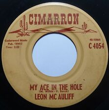 LEON Mc AULIFF ~ CIMARRON private COUNTRY rocker 45 ~ HEAR IT