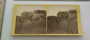Elephant Cliff Notch Stowe Vermont A.F. Styles Stereoview Photo 126