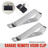2x Garage Door Opener Remote Car Visor Clips Bracket For Craftsman LiftMaster