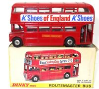 """DINKY NO. 289 LONDON ROUTEMASTER BUS 1964 """"K SHOES"""" - RAREST OF THE RARE! BOXED"""