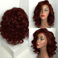 Women Short Curly Wavy Synthetic Hair Wigs Heat Resistant Bob Wig Cosplay Daily