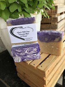 lavender oats & honey goat milk soap