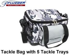 Pflueger Camo Tackle Bag & includes five tackle boxes + Free Post