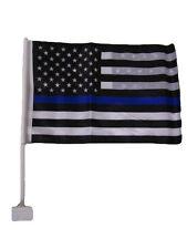 "12x18 USA Police Blue Line American Double Sided Car Window Vehicle 12""x18"" Flag"