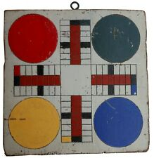 AAFA mid 1900s Folk Art Country Primitive Parcheesi Gameboard Checker game board