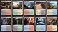 40 Card Dual Land - Khans of Tarkir - M20 gain life lands 4x Magic MTG  CNY