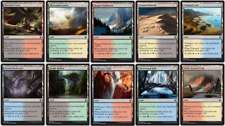 40 Card Dual Land - Khans of Tarkir etc gain life lands 4x Sets - Magic MTG  CNY