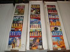 Analog Science Fiction and Fact Magazine 1995 Lot of 13 Issues VG - EX Condition