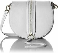 Rebecca Minkoff HSP7EMAX43 Mara White Saddle Crossbody Bag Women's Handbag - New