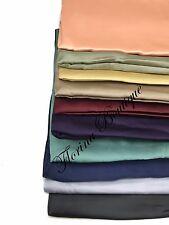 Plain Satin SQUARE Hijab plain scarf wrap occasion sheen turkish style