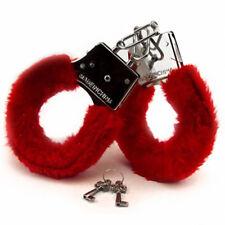 Furry Fuzzy Costume Handcuffs Metal Wrist Cuffs Soft Fur Bachelorette Hen Party
