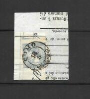 Antichi Stati lombardo veneto 3 cent mercurio I tipo su fr. di giornale Como