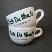 Set of 2 Café Du Monde New Orleans Mug Beignets Coffee Tea Cup 20oz