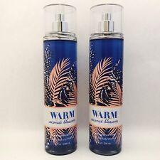 2 Bath&Body Works Cálido COCO EN FLOR FINA Fragancia niebla SPRAY 8 fl.oz NUEVO