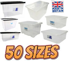Quality Plastic Storage Boxes Clear Box With Lids Home Office Kitchen Stackable