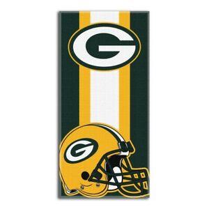"NFL Green Bay Packers Logo Cotton Beach Towel 30"" x 60"" Brand New Zone Read"