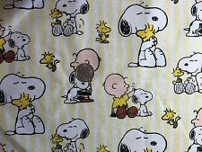 Peanuts Snoopy Charlie Brown Yellow Quilt Fabric Novelty Fat Quarter FQ FQs