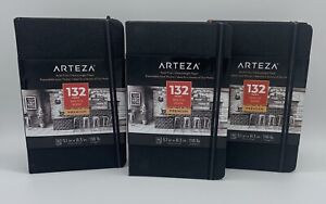 "Arteza 5.1x8.3"" Sketch Book, Pack of 3 Notebooks, 100 Pages per Pad 118lb/175gsm"