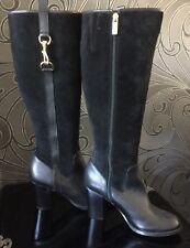 JASPER CONRAN Black Suede/Leather Boots Size 6 / 39 RRP £135 BNWT SALE PRICE