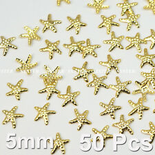 50 Pcs 3D Nail Art Decoration Sea Star StarFish Alloy Jewelry Glitter SG-166