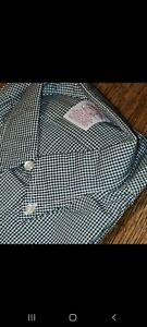 Brooks BROTHERS 16 1/2 -4 VINTAGE NOS Tags NWT Blue SMALL checkered squares 16H