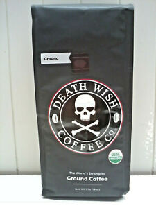 Death Wish Organic USDA Certified Ground Coffee, 16 Ounce Bag