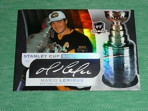 2008-09 The Cup MARIO LEMIEUX Auto *30/50* Stanley Cup Signatures Autograph L@@K