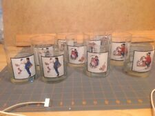Ten Arby's Collector Series Norman Rockwell Winter Scenes Pepsi Glass Cups