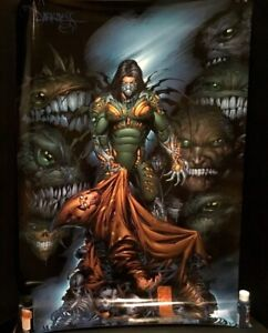 """Top Cow Comics The DARKNESS #2 Cover Oversized Poster 26.5""""x40 Silvestri 1997 NM"""