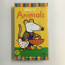 Maisy: Animals. VHS Video Tape ABC Kids Sheep Meow Dog Fleas Nest Rabbit Farm