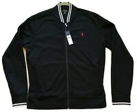 NWT!  POLO by Ralph LAUREN Men's BLACK  Zip-Up Casual Jacket LARGE ORIG. $98.50