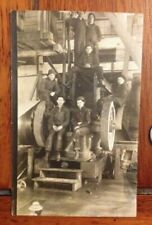 1917 Real Photo Postcard Industrial Shipbuilder Workers
