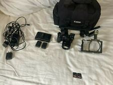 Sony Alpha A6500 camera set up.