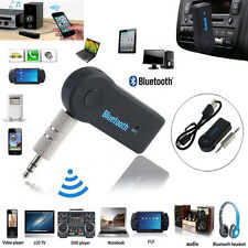 Bluetooth Wireless 3.5mm AUX Stereo Speaker Car Audio Music Receiver Adapter Mic