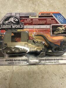 New Matchbox 2017 Jurassic World Armored Raptor Hualer