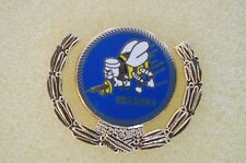 US USA USN Navy Seabees Wreath Military Hat Lapel Pin