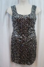 Guess Dress Sz 10 Silver LORI Fully Sequined Evening Cocktail Party Tank dress