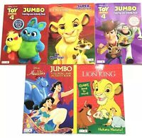 Disney Toy Story 4 Lion King Aladdin Coloring & Activity Book Lot Of 3 Mixed