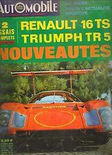 L'AUTOMOBILE 265 1968 RENAULT 16 TS TRIUMPH TR5 BRANDS HATCH 500 INDY LE MANS