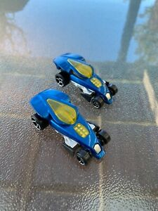 Hot Wheels 2x 2006 Brutalistic Blue McDonalds Happy Meal Toy Rear-End Pop Action