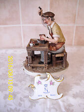 Capodimonte Figurine By Zanelli Called The Shoemaker Issued 1981