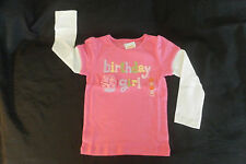 NEW Gymboree Girls BIRTHDAY GIRL Shirt Top 4 Bday Party Pink Long Sleeve Flower